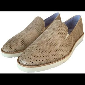 Johnston & Murphy Shoes - Johnston & Murphy Leather Metallic Slip-on Loafer